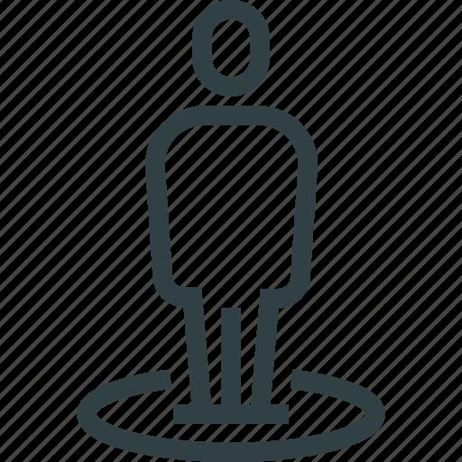 man, marker, navigation, pointer icon