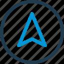 arrow, direction, gps, map, navigation, tracker, way icon
