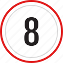 count, eight, number, numbers icon