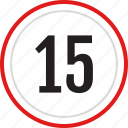 count, fifteen, number, numbers icon
