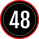 count, eight, fourty, number, numbers icon