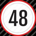 numbers, 48, number