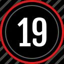 numbers, number, nineteen