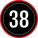 eight, number, thirty, count, numbers icon