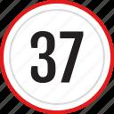 numbers, number, 37
