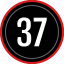 count, number, numbers, seven, thirty icon