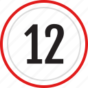 number, twelve, count, numbers