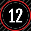 count, number, numbers, twelve