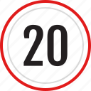 twenty, numbers, number