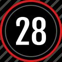 numbers, number, 28