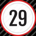 numbers, number, 29