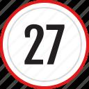 count, number, numbers, seven, twenty icon