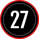 numbers, number, 27 icon