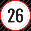 numbers, number, 26