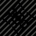 arrow, location, map, navigation icon