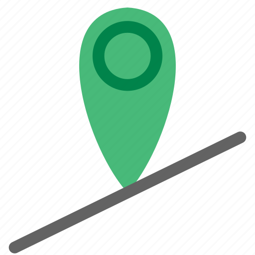 geolocation, location, map, real time, road icon