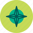 direction, geography, north, orientation, star icon