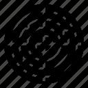 destination, focus, location, navigation, position, radar, target icon