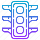 destination, light, location, road, traffic icon