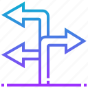 arrow, destination, location, navigation, turn
