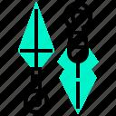 japan, knight, kunai, ninja, sword icon