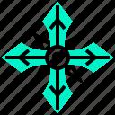 japan, ninja, shuriken, weapon icon