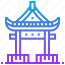 building, china, japan, pavilion, shrine icon