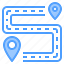 direction, location, map, navigation, route, travel icon