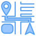 direction, location, map, navigation, pin, route, travel icon