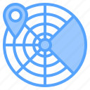 direction, location, map, navigation, radar, route, travel icon