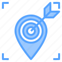 direction, location, map, navigation, route, target, travel icon
