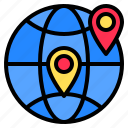 direction, earth, location, map, navigation, route, travel icon