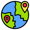 direction, global, location, map, navigation, route, travel