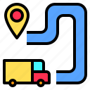 direction, lifestyle, location, map, navigation, route, travel icon