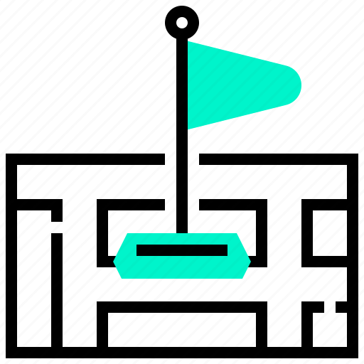 destination, flag, location, map, marker, navigation icon