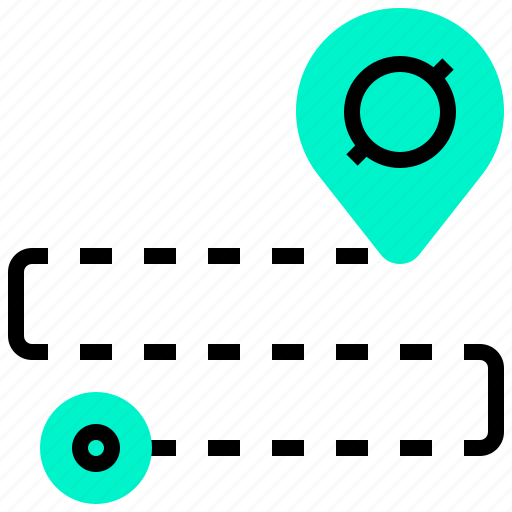 destination, gps, location, map, navigation, pin, route icon