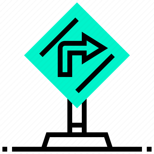 destination, location, road, sign, traffic icon