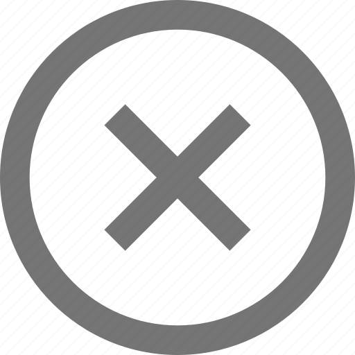 circle, close, highlight off, line, material, outline icon