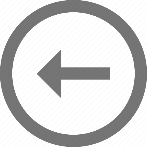 arrow, back, circle, left, line, material icon
