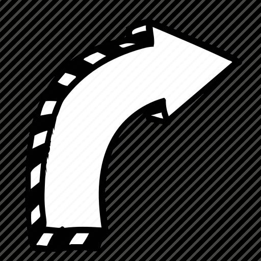 arrow, direction, move, previous, right icon