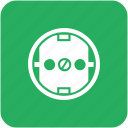 charge, electric, euro, socket, standart, type icon