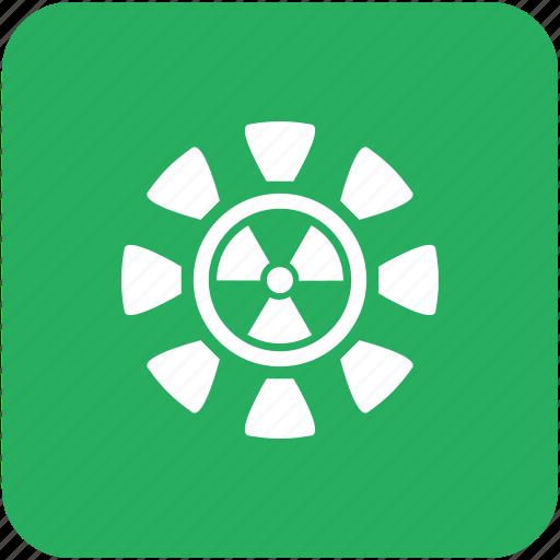 green, radiation icon
