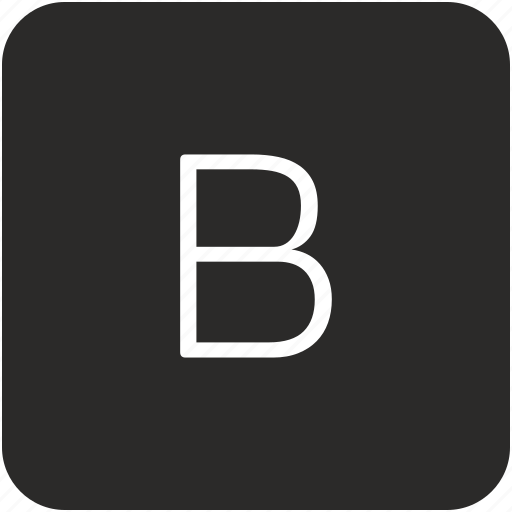 b, key, keyboard, letter, uppercase icon