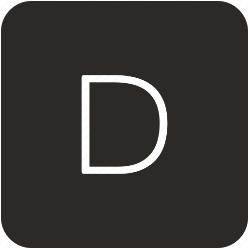 d, key, keyboard, letter, uppercase icon