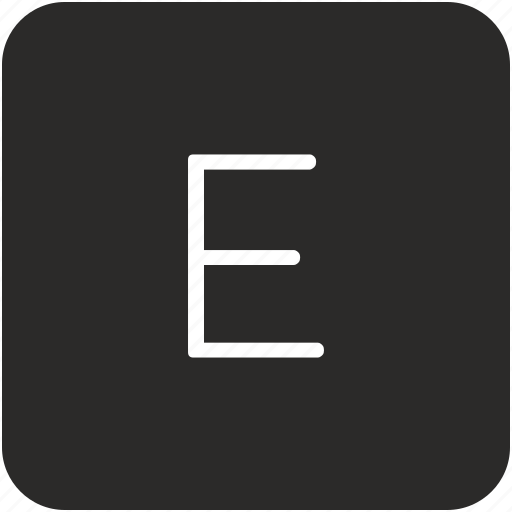 e, key, keyboard, letter, uppercase icon