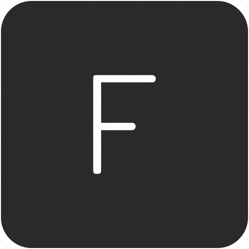 f, key, keyboard, letter, uppercase icon