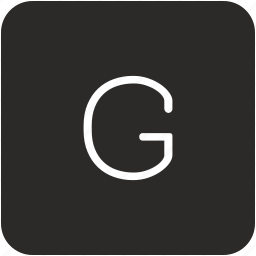 g, key, keyboard, letter, uppercase icon