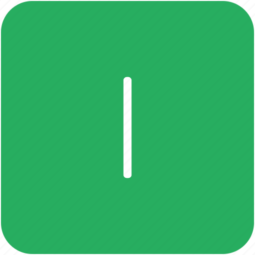 green, i, key, keyboard, letter icon