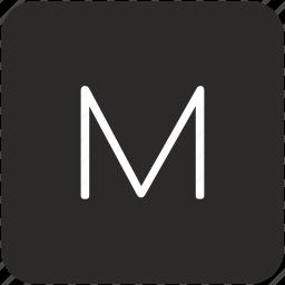 key, keyboard, letter, m, uppercase icon