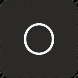 key, keyboard, letter, o, uppercase icon